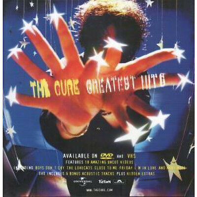 """CURE Greatest Hits POSTER UK Fiction Double Sided 12"""" By 12"""" Display Poster For"""