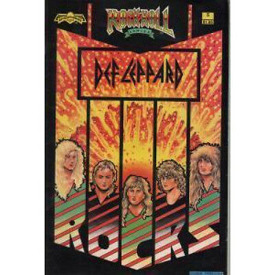 DEF LEPPARD Rock N Roll Comic COMIC US History Of The Band As A Comic From 84