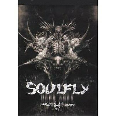 SOULFLY Dark Ages FLYER UK Roadrunner 2005 A6 Flyer With Adverts On Rear For