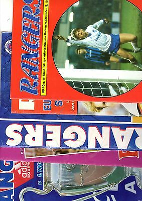 5 x RANGERS EUROPEAN COMPETITIONS 1982 - 1994 Listed 2