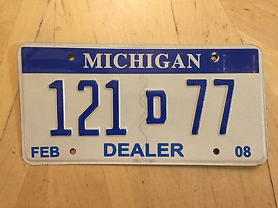 "Pure Auto Dealer New Used Car  License Plate "" 92 D 025 ""  Dlr   D Tag"
