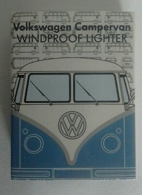 VW Official Licensed Campervan Blue Windproof Cigarette Lighters-Gift Tin Case