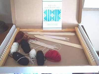 """BIG 14 x 18"""" wooden WOOD Learn how to WEAVE lap LOOM gift home school teach"""