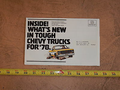 ORIGINAL 1978 CHEVROLET TRUCK AUTOMOBILE DEALER SALES BROCHURE (lot 282)