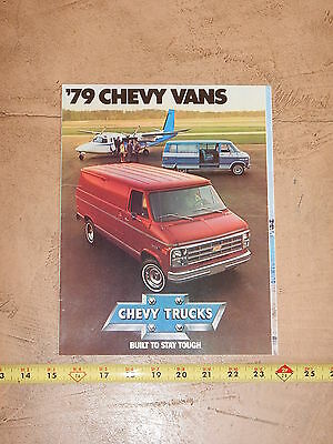 ORIGINAL 1979 CHEVROLET VAN AUTOMOBILE DEALER SALES BROCHURE (lot 309)