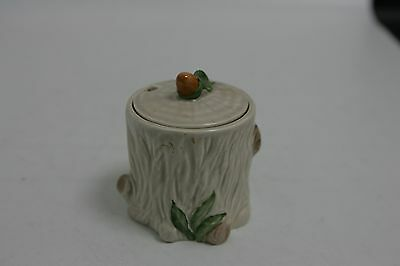 Vintage Crown Devon Squirrel on a Tree Trunk Jam Pot with Acorn Lid (SLD14)