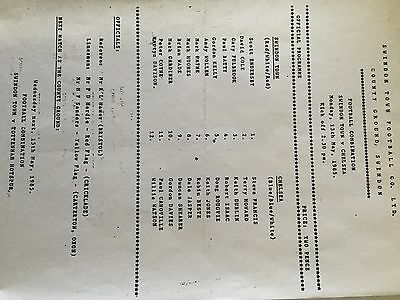 SWINDON TOWN Res V CHELSEA Res ( Comb ) 1984/5.