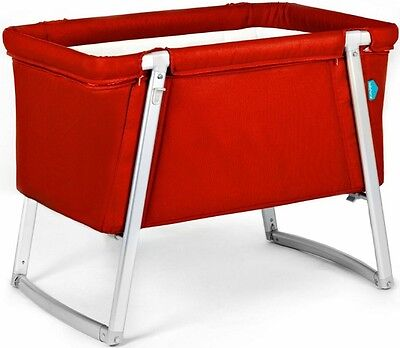 NEW Baby Home RED Baby Crib w/ Adjustable Legs