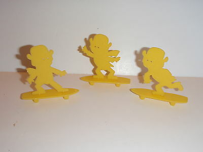 3 Vintage Original All Different Lucky Charms Skateboader  Cereal Premiums