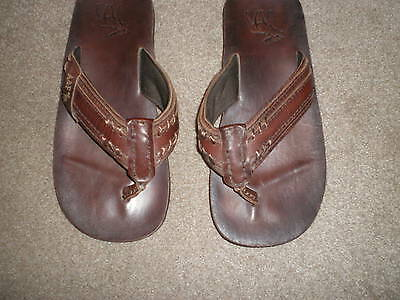 Mens Leather Flip Flops Size 8 Abercrombie & Fitch