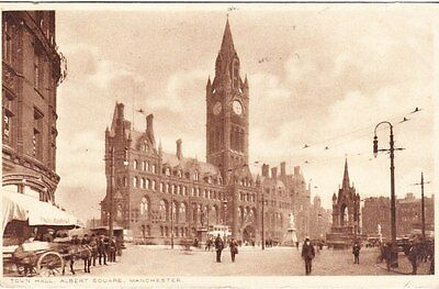 Manchester - Town Hall, Albert Square -  post card 1926