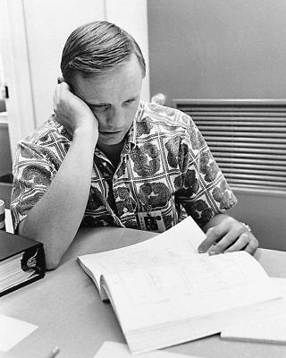 Neil Armstrong Reviewing Flight Plans 11x14 Silver Halide Photo Print