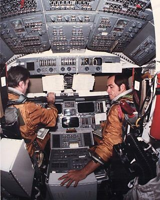 STS-1 Space Shuttle Columbia Cockpit 11x14 Silver Halide Photo Print
