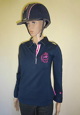 New ** Tottie Imogen** Ladies Polo Top Horse Riding Shirt Ladies Size 14/large