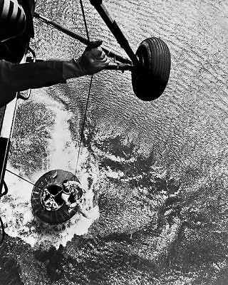 Mercury Recovery Helicopter with Alan Shepard 11x14 Silver Halide Photo Print