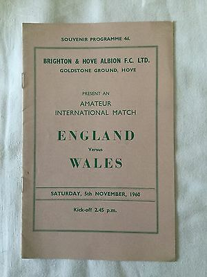 At Brighton : ENGLAND V WALES ( Amateur Int ) 1960.