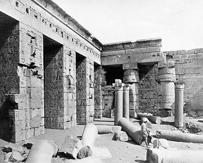 ANCIENT EGYPTIAN TEMPLE OF RAMESSES IN EGYPT 11x14 SILVER HALIDE PHOTO PRINT