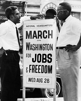 Civil Rights Era Sign for March on Washington 11x14 Silver Halide Photo Print