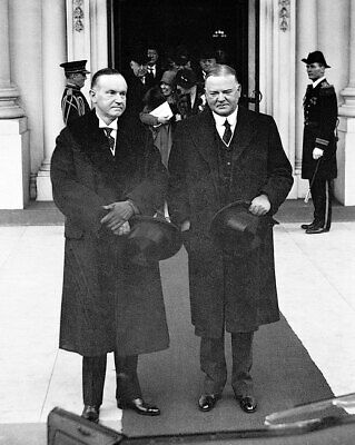 Calvin Coolidge and Herbert Hoover 11x14 Silver Halide Photo Print