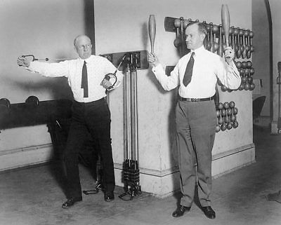 CALVIN COOLIDGE EXERCISING IN WHITE HOUSE GYM 11x14 SILVER HALIDE PHOTO PRINT