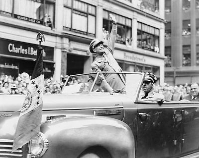 General Dwight D. Eisenhower in WWII Parade 11x14 Silver Halide Photo Print