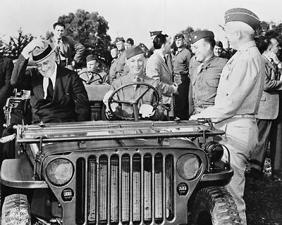 Franklin D Roosevelt Troops WWII Casablanca 11x14 Silver Halide Photo Print