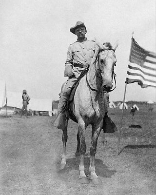 Colonel Theodore Roosevelt Rough Riders 11x14 Silver Halide Photo Print
