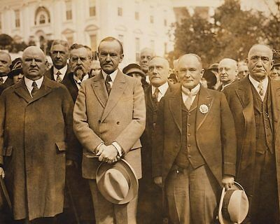 Coolidge w/ Scottish Freemasonry Delegation 11x14 Silver Halide Photo Print