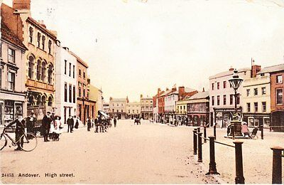 Andover - High Street -  post card 1915