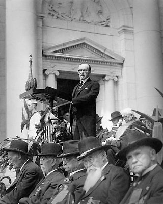 President Calvin Coolidge Giving Speech 8x10 Silver Halide Photo Print