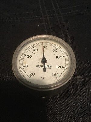 Rototherm Vintage Thermometer Used Working Tatty Free Uk Postage