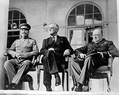 Roosevelt, Churchill & Stalin 11x14 Silver Halide Photo Print