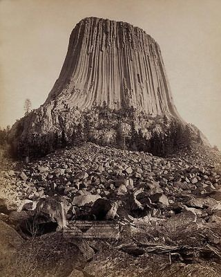 Old West Devil's Tower Monument 1890 11x14 Silver Halide Photo Print