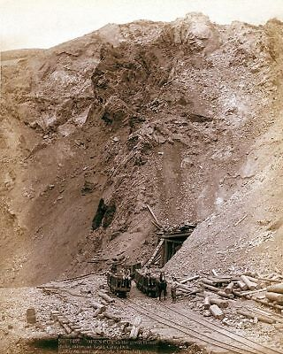 Old West Mine Dakota Railroad 1888 11x14 Silver Halide Photo Print