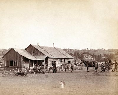 Old West Western Ranch House 1888 11x14 Silver Halide Photo Print