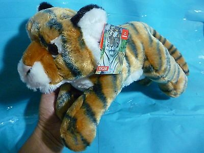 Tiger Plush by Aurora--About 15 Inches In Length--New With Factory Tag