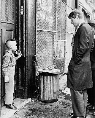 Robert F. Kennedy with Child, Brooklyn 1966 11x14 Silver Halide Photo Print