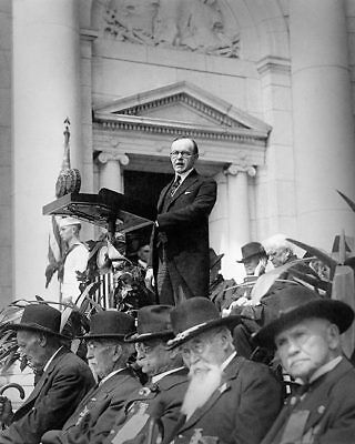 President Calvin Coolidge Giving Speech 11x14 Silver Halide Photo Print
