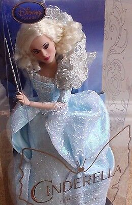 """Disney Store - Fairy Godmother Collection Doll 11"""" Live Action Film - Bnib"""