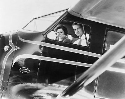 Howard Hughes & Nancy Carroll in Airplane 11x14 Silver Halide Photo Print