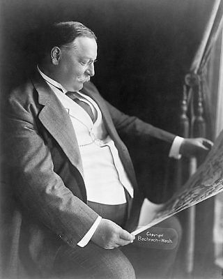 PRESIDENT WILLIAM H. TAFT SEATED PORTRAIT 11x14 SILVER HALIDE PHOTO PRINT