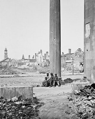 View of Destroyed Buildings Civil War 1865 11x14 Silver Halide Photo Print