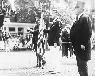 President Woodrow Wilson & US Flag Parade 11x14 Silver Halide Photo Print
