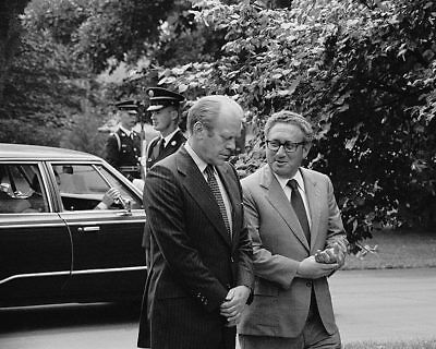 President Gerald Ford & Henry Kissinger 11x14 Silver Halide Photo Print
