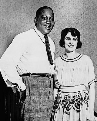 Jack Johnson and Wife Lucille Cameron 1922 11x14 Silver Halide Photo Print