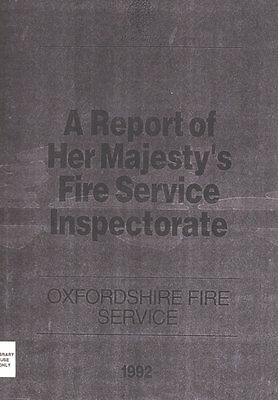 HMI Report on Oxfordshire Fire Service from 1992