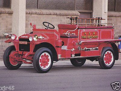 1926 Garford Type 15 Pumper - New South Wales FB Australia. Fire Engine Postcard