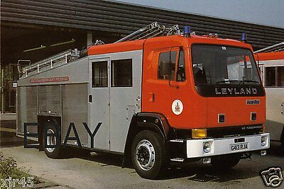 Greater Manchester County Fire Service Leyland/F&W WrL Postcard