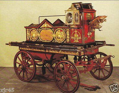 A 1862 Merryweather & Son Horse Drawn Pumper - Fire Engine Postcard