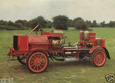The first British Self-Propelled Motor Fire Engine Postcard
